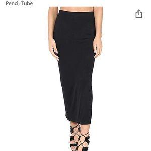 White stag black slinky cool skirt stretchy